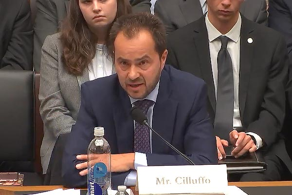 Frank Cilluffo testifies before a House Committee