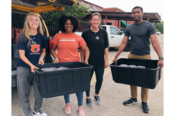 Auburn University students collect food for the campus and beyond.