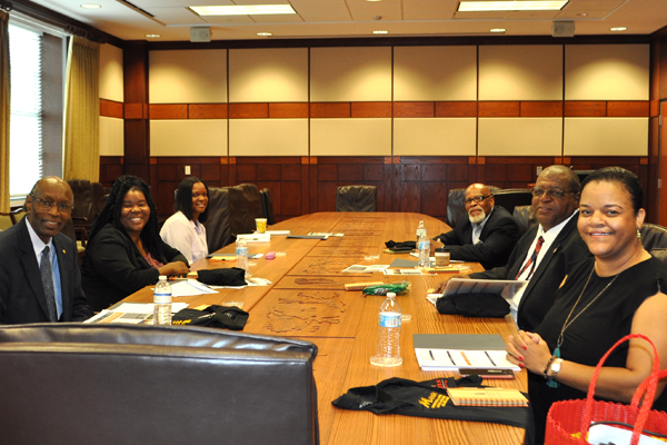 Pictured, from left, are Phearthur Moore, Michelle Cole, Dana McReynolds, Otis French, Ken Day and Victoria Dotson David.
