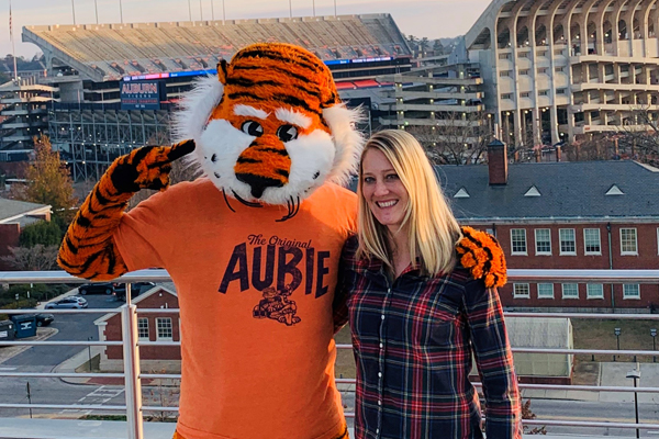 Meghan Alonso with Aubie.