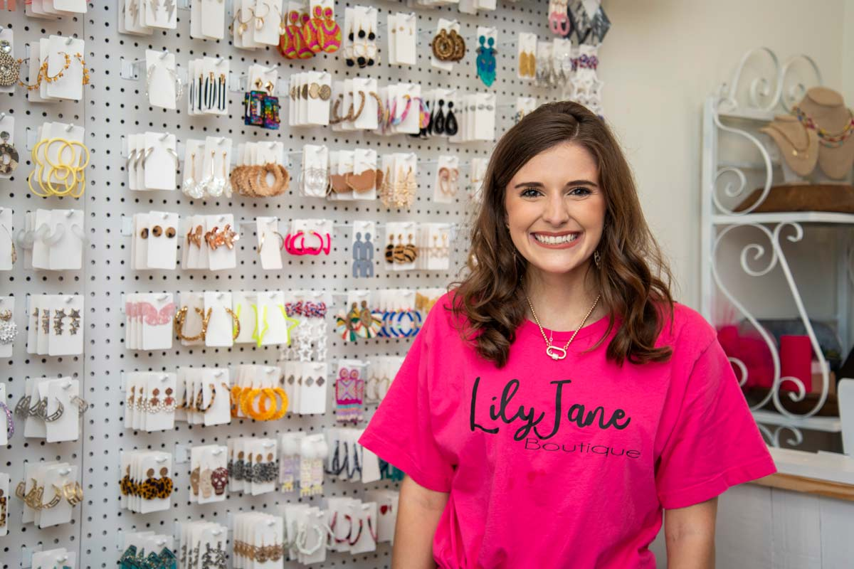 Sarah Jane Levine in the Lily Jane Boutique at Auburn University