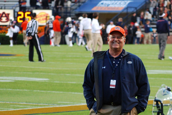 Dr. Jim Phillips on the field.